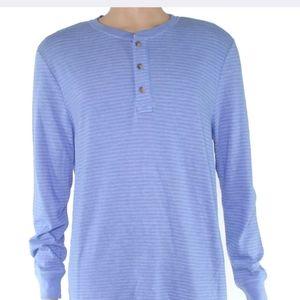 Club Room long-sleeve Henley striped shirt